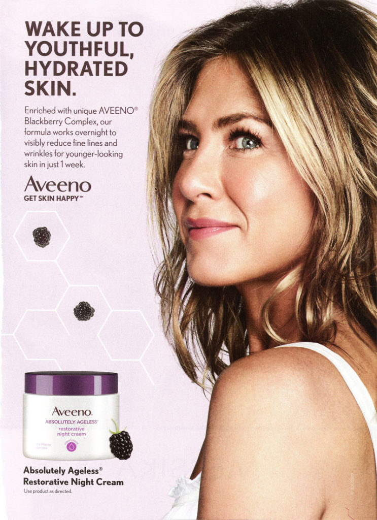 Jennifer Aniston Aveeno Night Cream
