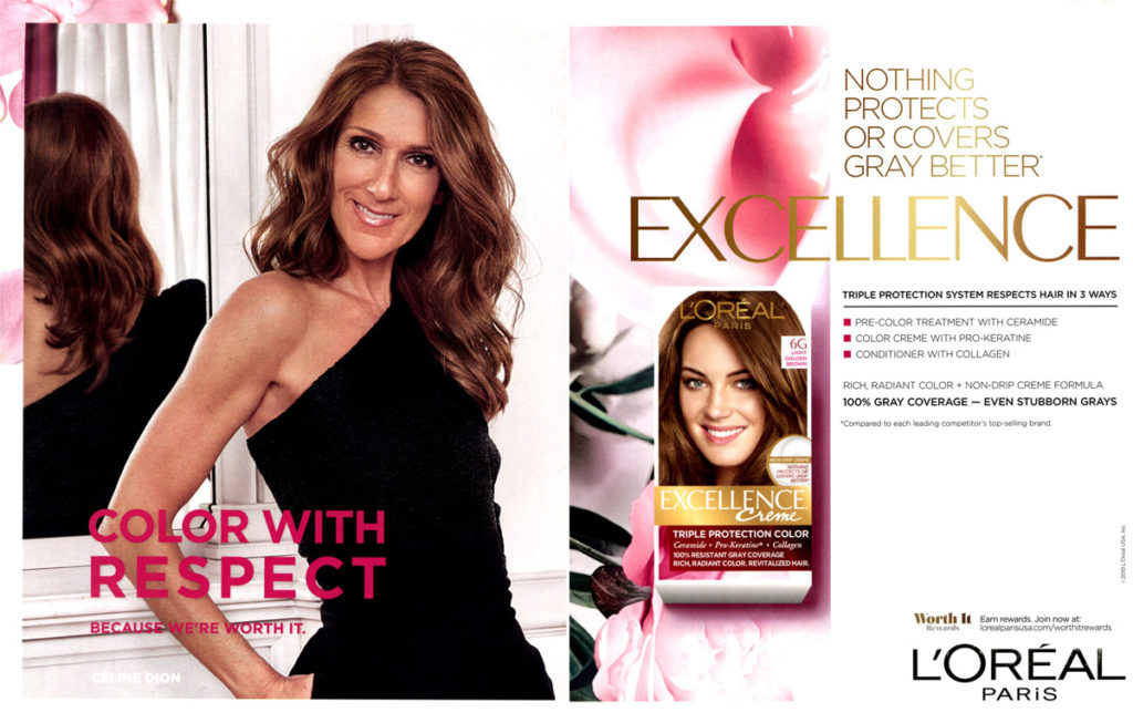 Celine Dion L'Oreal Excellence