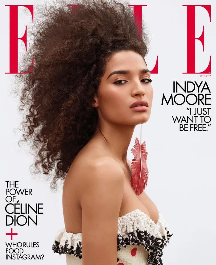 Elle June 2019 Indya Moore