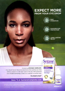 Venus Williams Alcon Systane