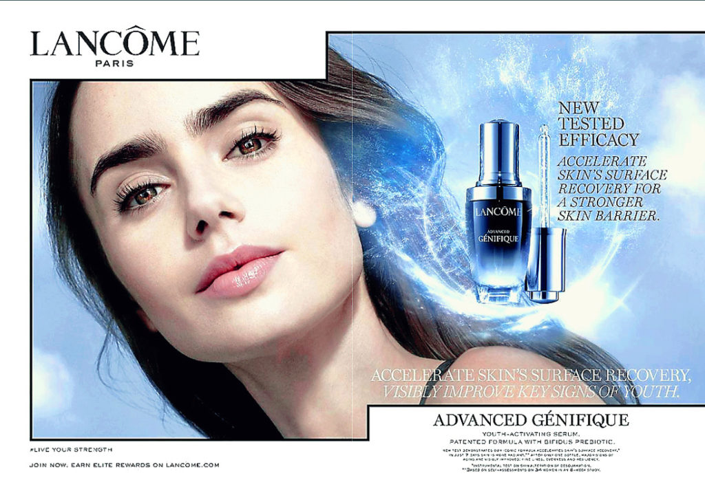 Lily Collins for Lancome 2020